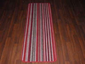 NEW NON SLIP TOP QUALITY RUNNERS 57X170CM APROX 6FTX2Ft STRIPE DESIGN RED MULTI